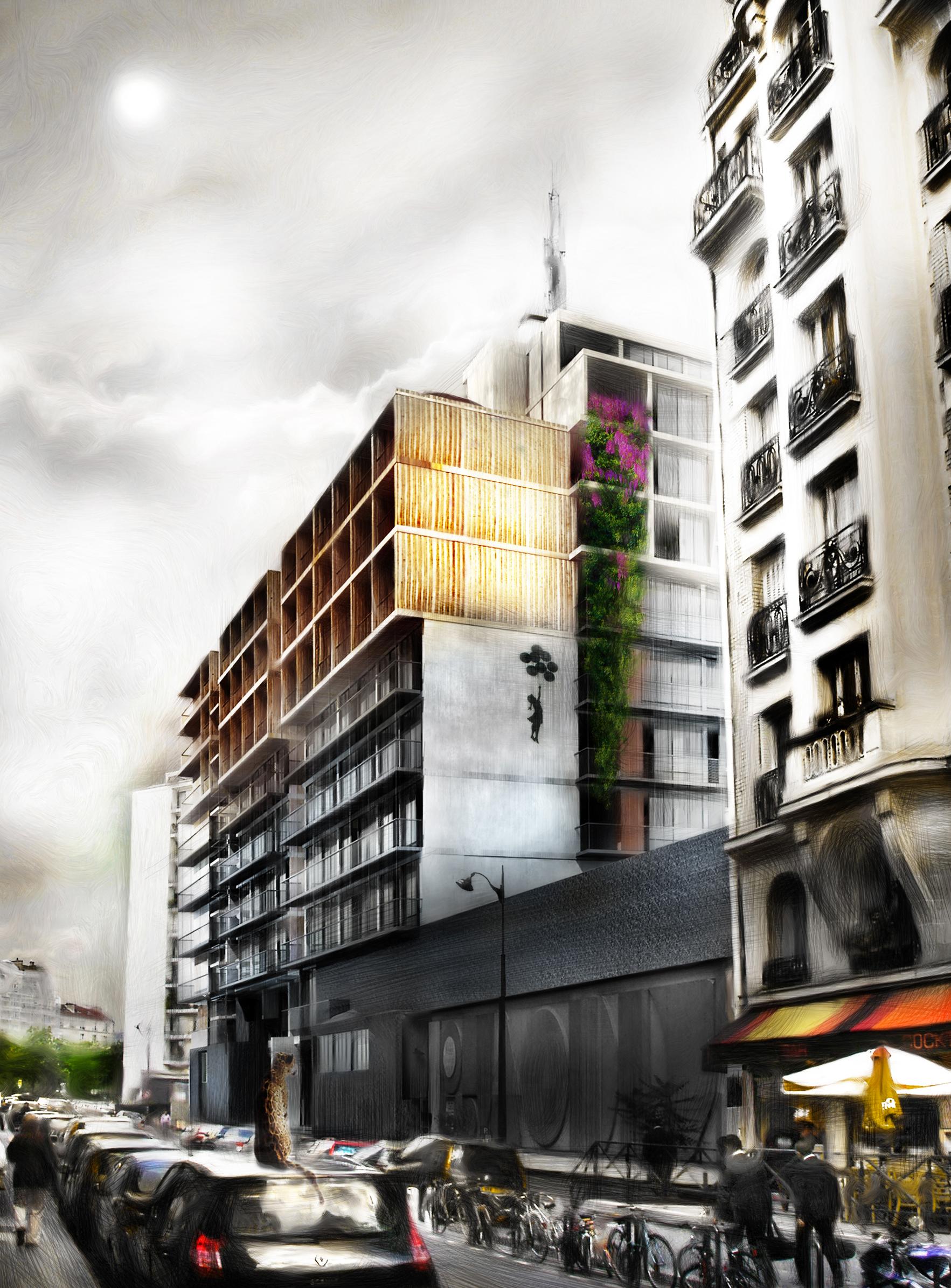 Palazzo Bercy - 02 - Logements - Caractère Spécial - Matthieu Poitevin Architecture