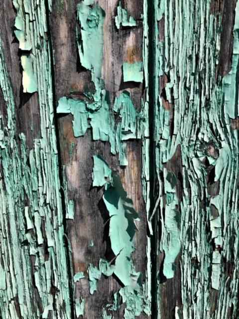 Bois peint et vieilli  - Caractère Spécial Architecture