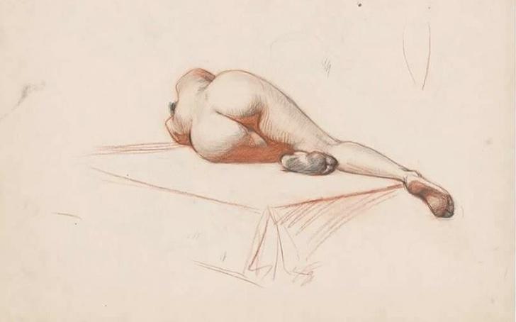 Dessin de femme nue  - Caractère Spécial Architecture