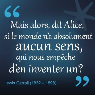 Citation d'Alice - Caractère Spécial Architecture