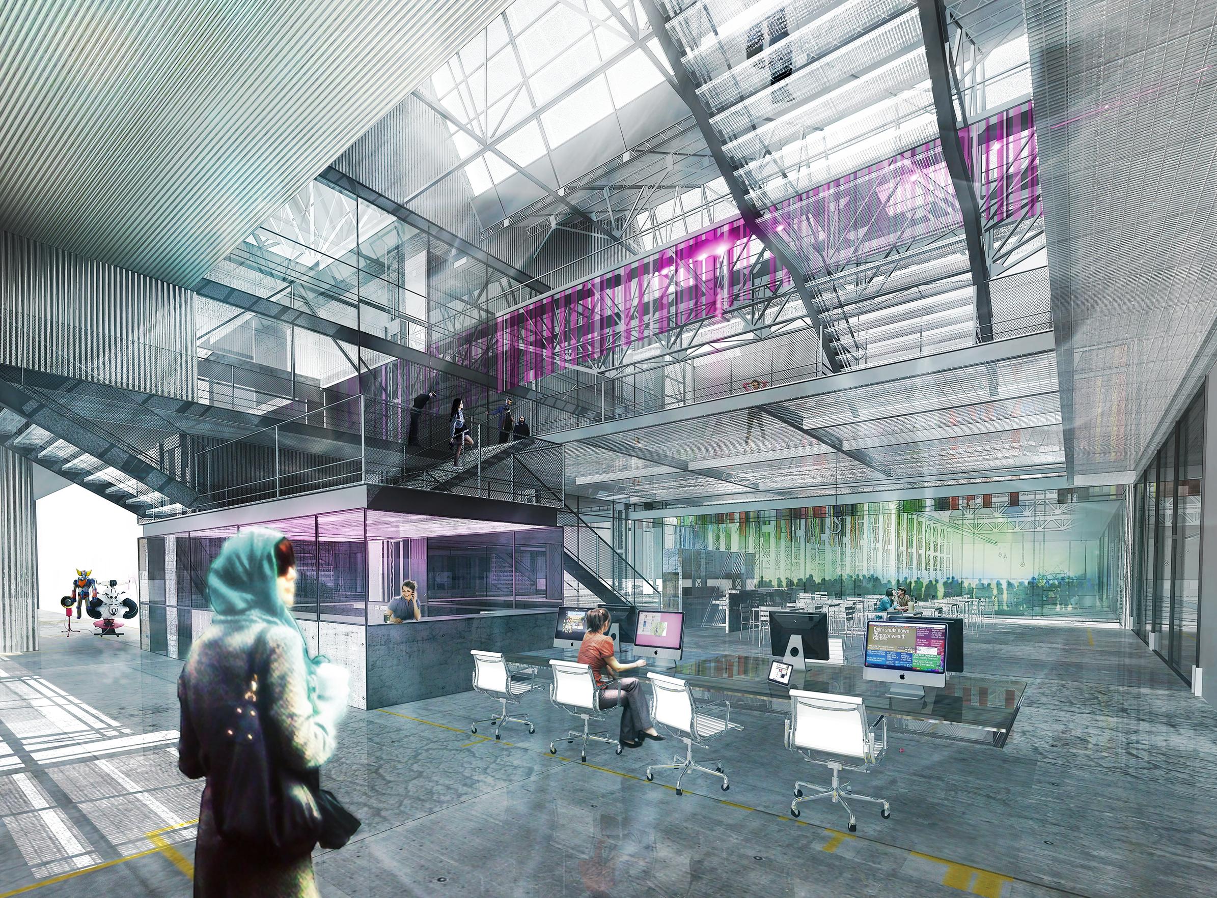 Halles Alstom - 04 - Équipements Bureau - Caractère Spécial - Matthieu Poitevin Architecture