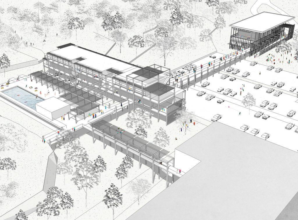 Le Jardin des ombres - 03 - Équipements + Bureau - Caractère Spécial -Matthieu Poitevin Architecture