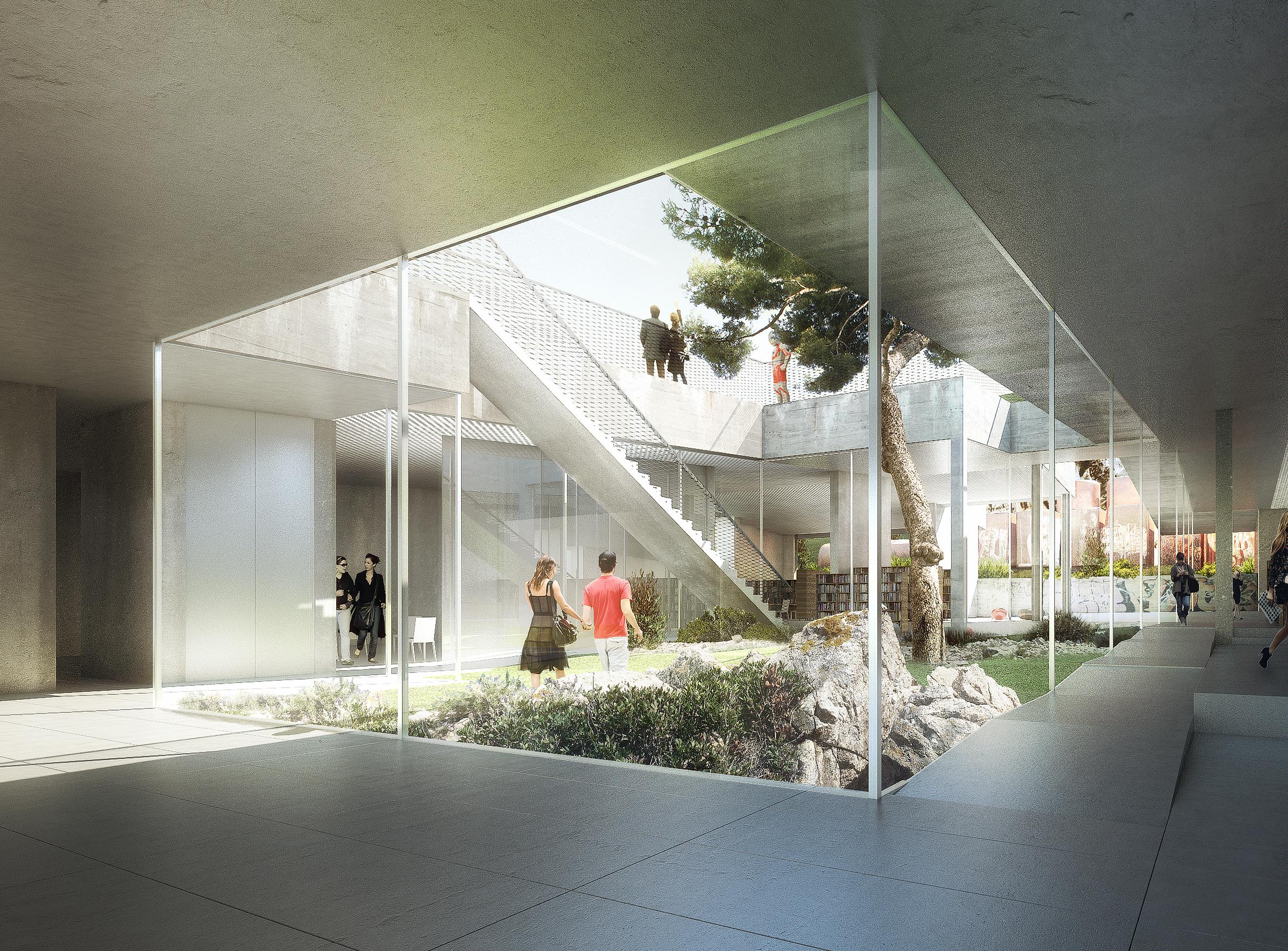 Médiathèque de septèmes - 02 - Équipements Bureau - Caractère Spécial - Matthieu Poitevin Architecture