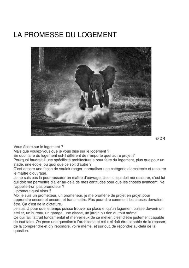 Tribune Matthieu Poitevin - La promesse du logement